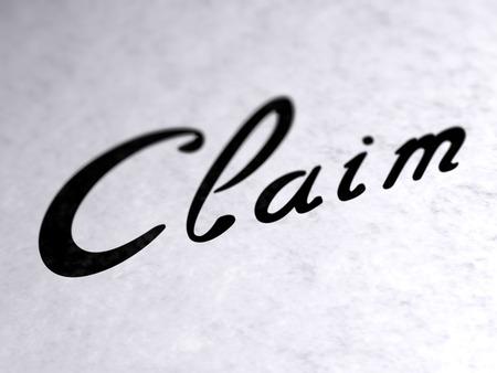 Claim on paper