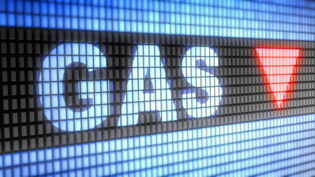 Index of Gas on the screen. 3D Illustration.