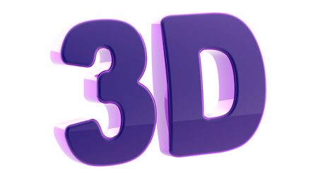 3D on white background.