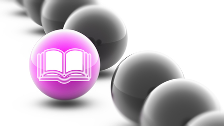 Book icon on the ball.