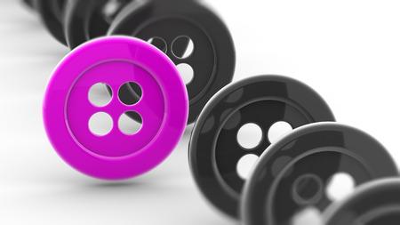 Buttons. 3D Illustration.