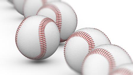 Baseball. 3D Illustration.
