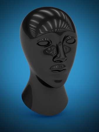 Head of dummy. 3D Illustration.