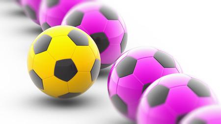 Soccerball. 3D Illustration.