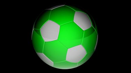 Socerball. 3D Illustration. Imagens