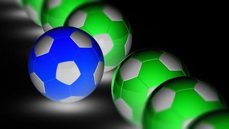 Soccerball. 3D Illustration. Stock fotó