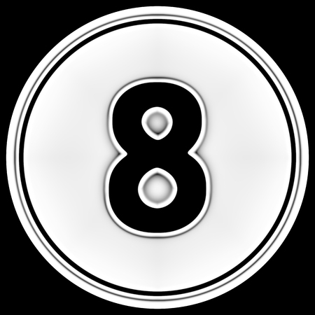 The number in a circle. Illustration. Banco de Imagens