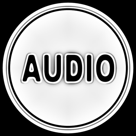 Audio icon in a circle. Illustration. Фото со стока