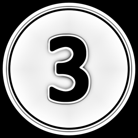 The number in a circle. Illustration. Stock Photo
