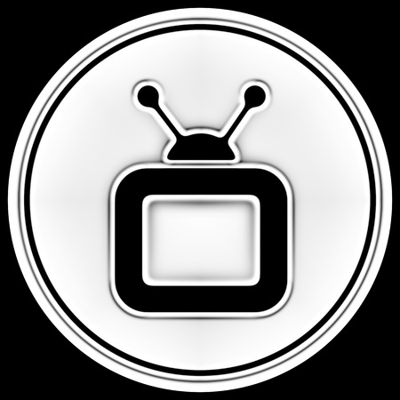 TV icon in a circle. Illustration. Banque d'images - 110796360