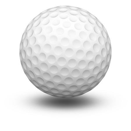 Golfball in white background. 3D Illustration. Standard-Bild