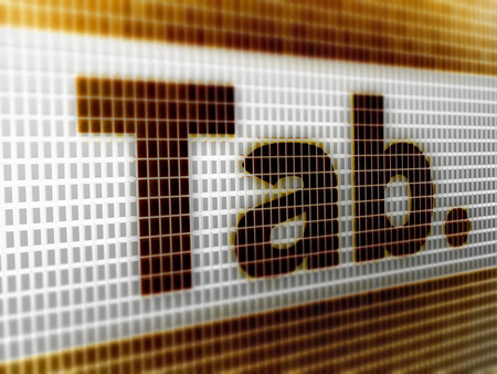 TAB icon in the screen. 3D Illustration. Reklamní fotografie