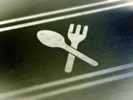 Dinner icon. 3D Iluustration. Stock Photo