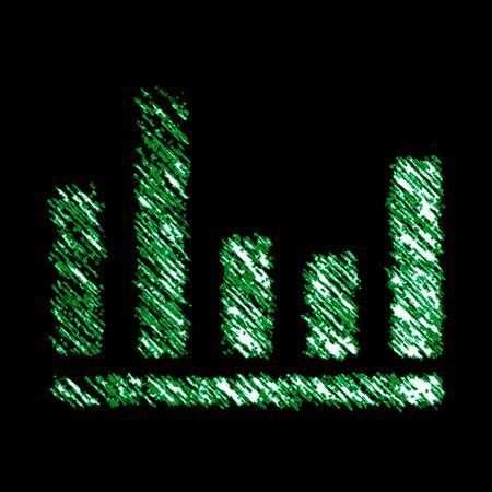 Equalizer icon in the black background. Illustration.