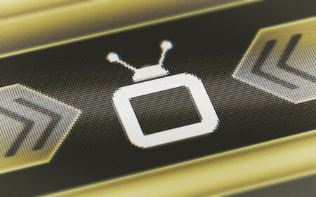TV icon in the screen. 3D Illustration. Banque d'images