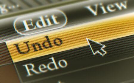 Undo button in the screen. Illustration. 스톡 콘텐츠 - 131815187
