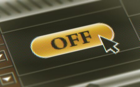 OFF button in the screen. Illustration
