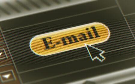 E-mail button in the screen. Illustration Stock Photo