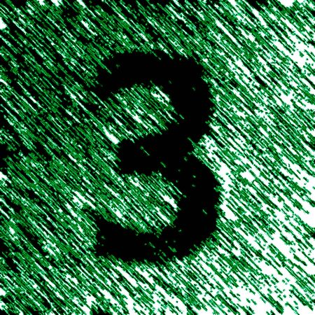 Number in the green background. Illustration. Stok Fotoğraf