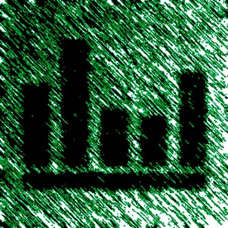 Equalizer icon in green background. Illustration. Stok Fotoğraf