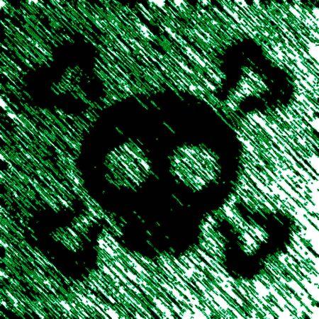Virus icon in green background. Illustration.