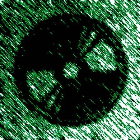 Disc icon in green background. Illustration. Stockfoto