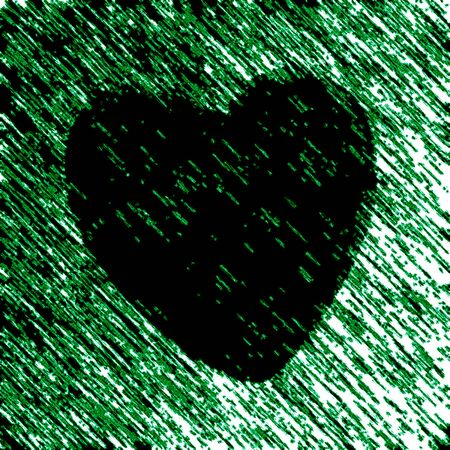 Heart icon in green background. Illustration.