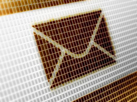 E-mail icon in the screen. Illustration. Standard-Bild