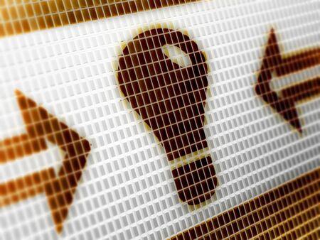 Idea icon in the screen. Illustration.