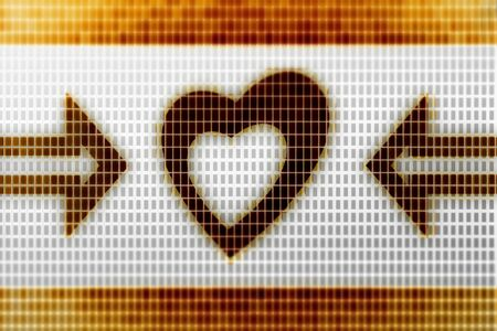 Heart icon in the screen. Illustration.