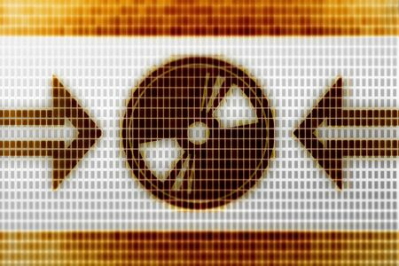Disc icon in the screen. Illustration.