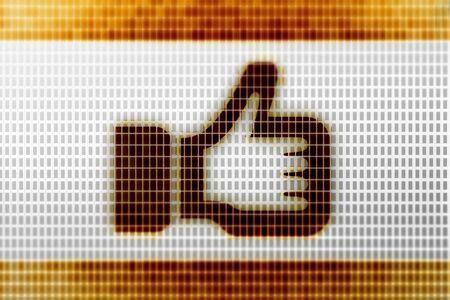 Like icon in the screen. Illustration. Foto de archivo - 131461965