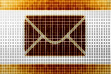 E-mail icon in the screen. Illustration. Stockfoto