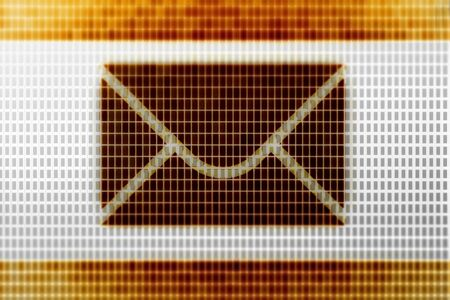 E-mail icon in the screen. Illustration. Stock Photo