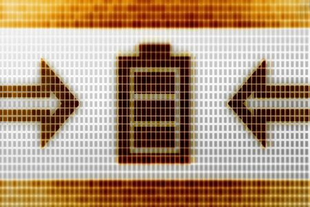 Battery icon in the screen. Illustration.