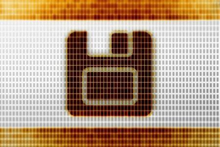 Save icon in the screen. Illustration. Reklamní fotografie