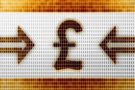 Pound icon in the screen. Illustration. Stockfoto