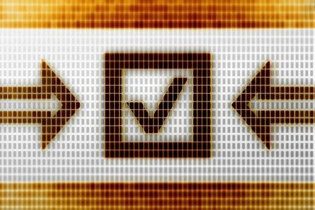 Checkbox icon in the screen. Illustration. Stok Fotoğraf