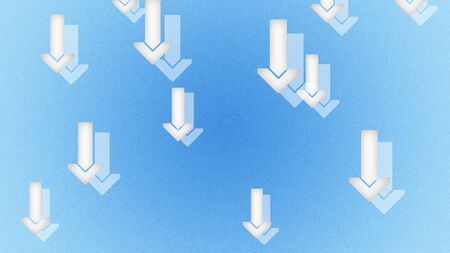 Arrows icons in the blue backgrounds. Illustration.