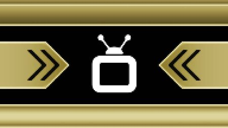 TV icon in the screen. Illustration.