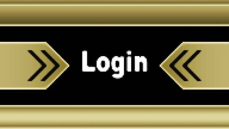Login icon in the screen. Illustration. Stockfoto