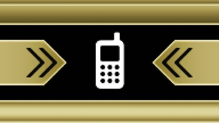 Mobile icon in the screen. Illustration.