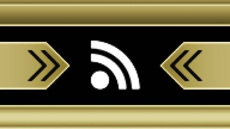 RSS icon in the screen. Illustration.