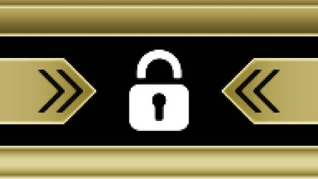 Lock icon in the screen. Illustration. Stok Fotoğraf