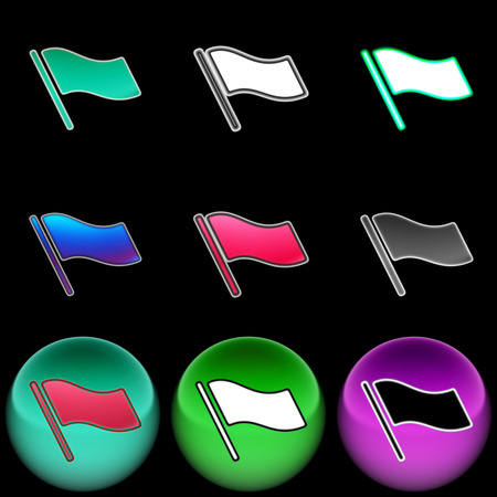 The computer icon Stock Photo