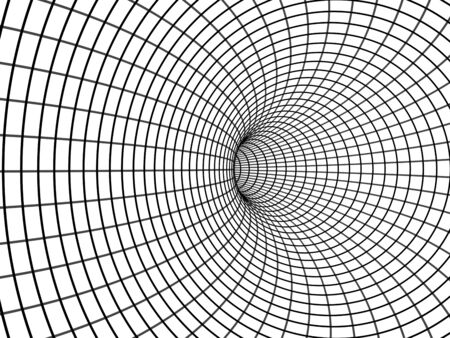 The Black hole. Illustration. Stockfoto