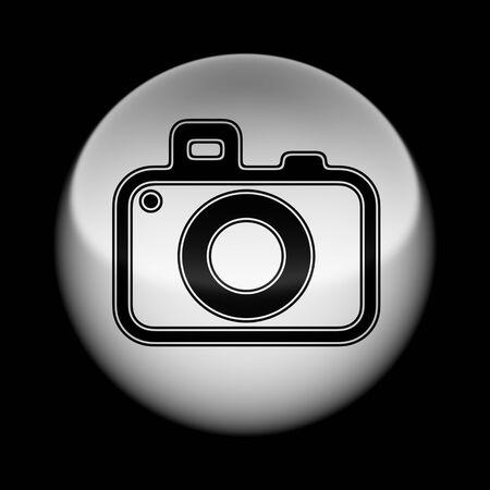 Icon on the ball. Illustration.