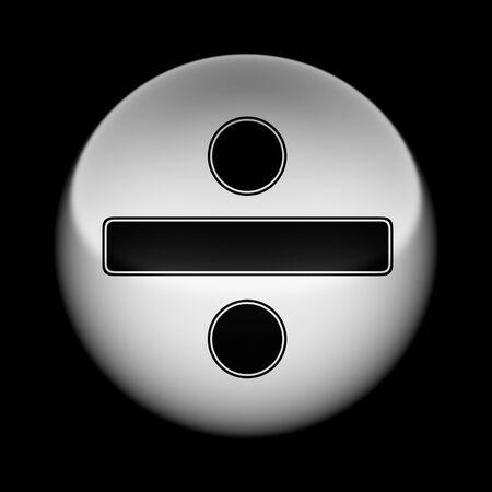 Icon on tha ball. Illustration. Stockfoto