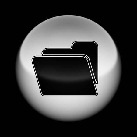 Icon on tha ball. Illustration. Stok Fotoğraf