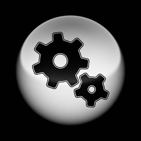 Icon on tha ball. Illustration. Imagens